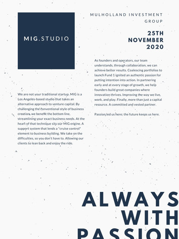 MIG.Studio - Introductory Strategic Content