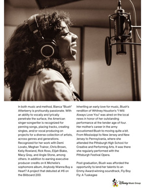 Disney Music Publishing - Artist One Sheet