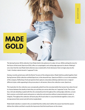 Made Gold Denim Editorial