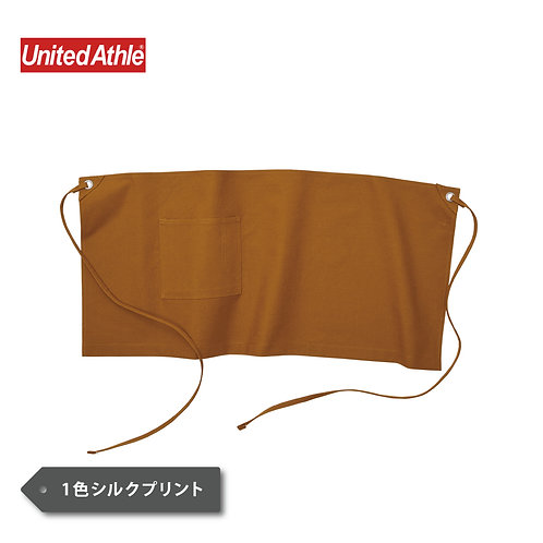 UnitedAthle ウォッシュ キャンバス ショート エプロン 1383-01