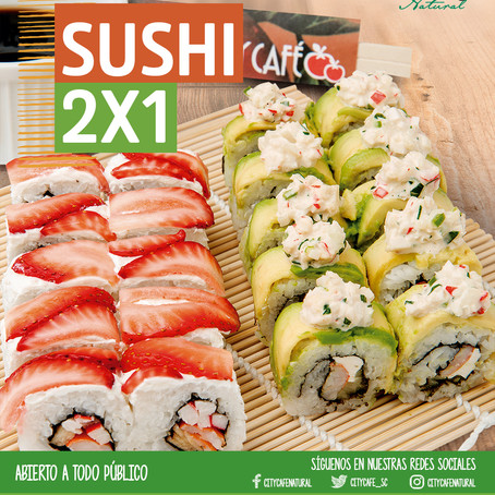 Promo Sushi 2x1