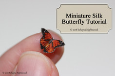 Miniature Silk Butterfly