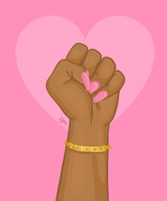 Black Lives Matter Power Fist Pink