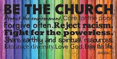 UCC be the church rainbow banner