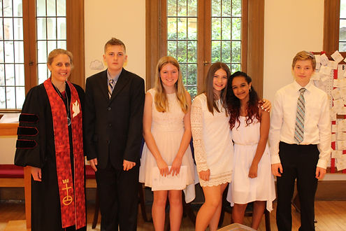 confirmation class 2017 group picture