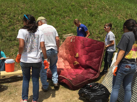 ASP team getting rid of old mattress