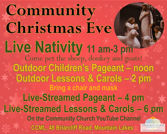 Christmas Eve 2020 worship and live nativity information
