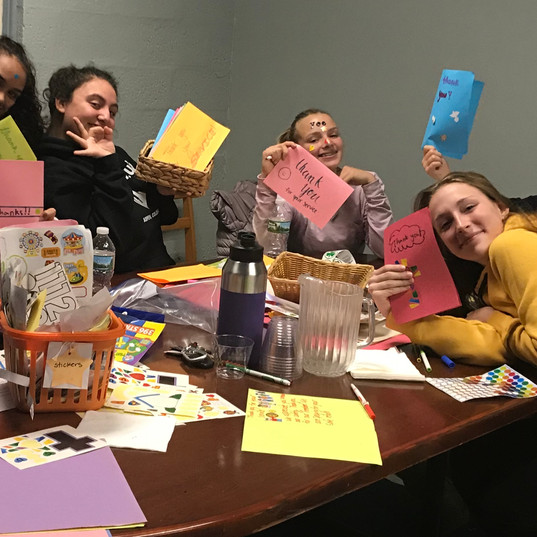Jr & Sr High Youth group-cards for servi