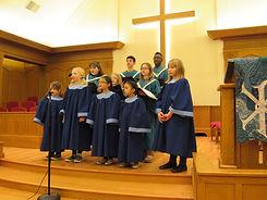 childrens choir singing