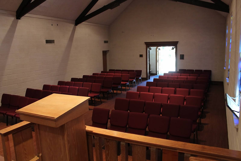 Picture of Chapel full of chairs