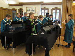 bell choir playing together