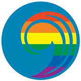 UCC Rainbow comma logo