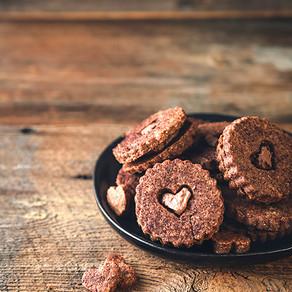 Gluten Free + Dairy Free Double Chocolate Linzer Cookies