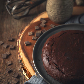 Flourless, Dairy Free Chocolate Cake with Italian Roast Coffee
