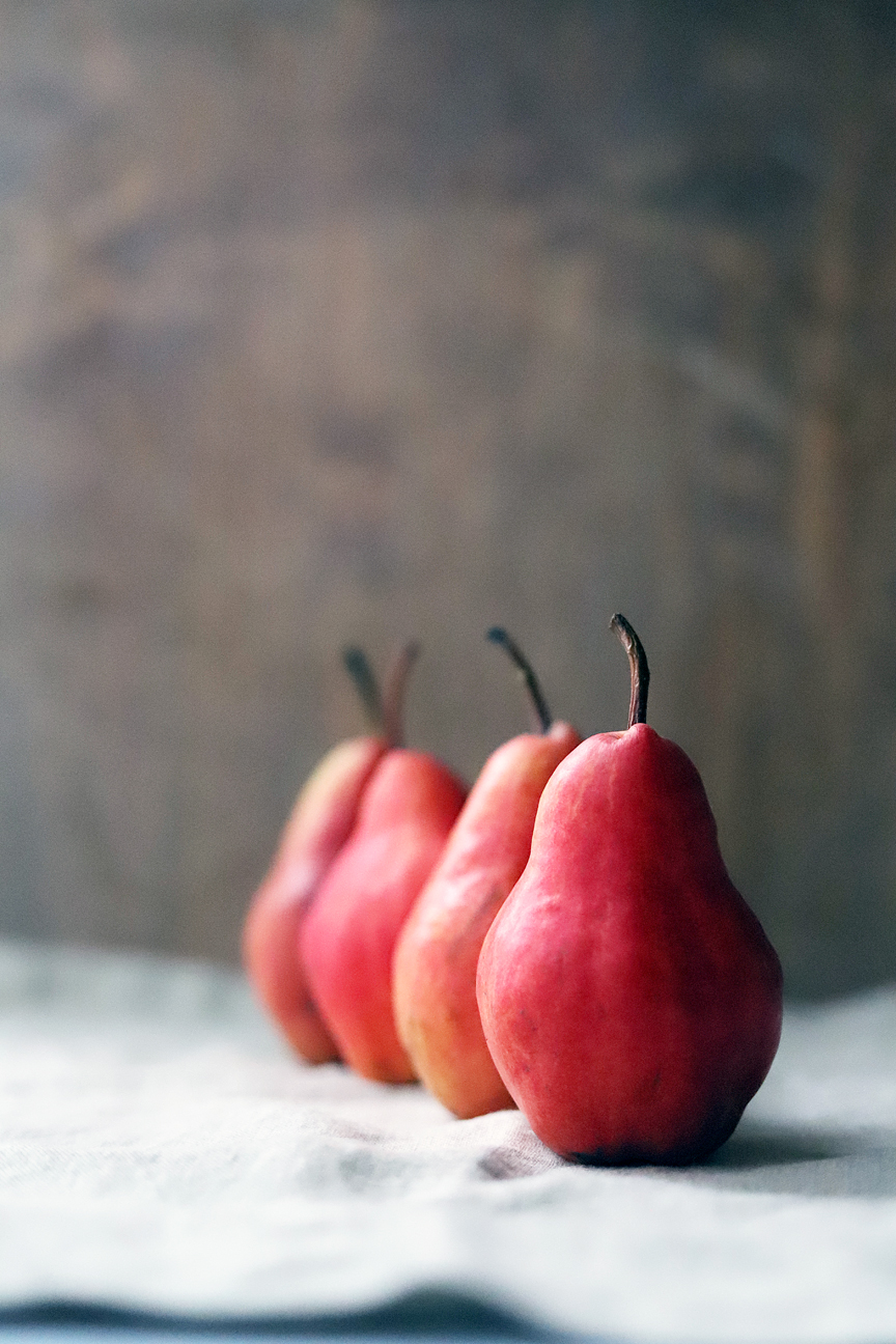 Row of Red Pears