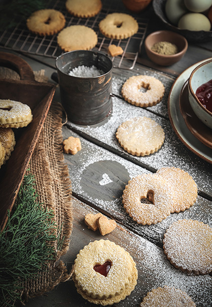Melt in Your Mouth Gluten Free Linzer Cookies, Food Styling and Food Photography in Dallas, Texas