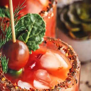 Bloody Mary's with Fresh Veggie Juice