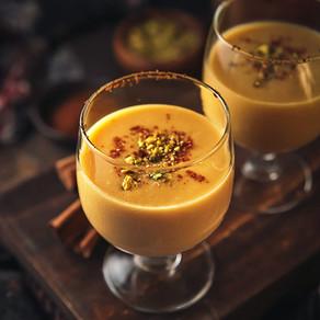 Dairy Free Mango + Pistachio Lassi