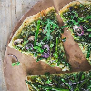 Healthy + Vibrant Summer Green Pizza