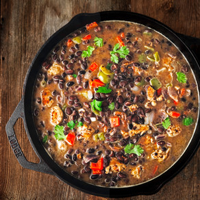 Quick + Easy Homemade (sort of) Black Bean Soup