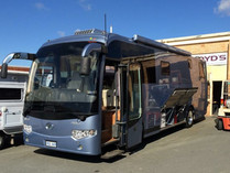 Guy Sebastian's ex tour bus
