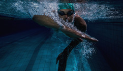 Peter Ashworth Swimming Man 1