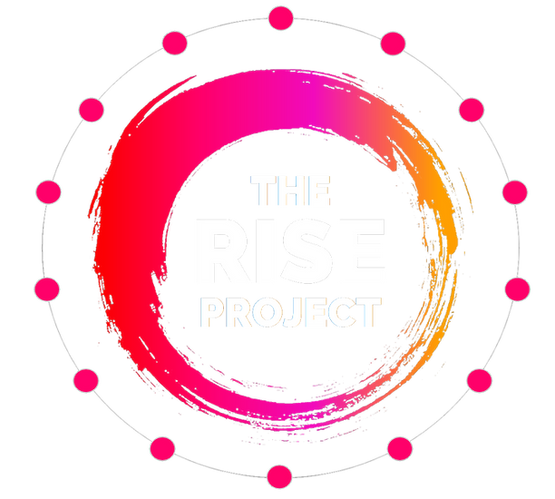 THE RISE PROJECT LOGO white center trans