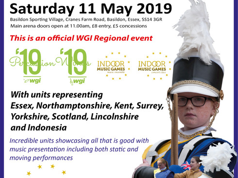 Thurrock Marching Brass to host WGI Regional and Indoor Music Games event