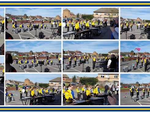 Thurrock Marching Brass celebrate Ockendon Centre's 4th Birthday