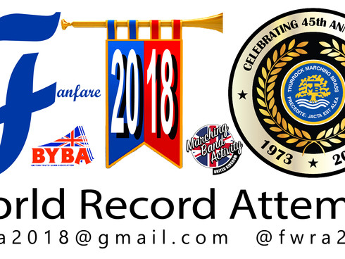 Thurrock Marching Brass Dedicates Fanfare World Record Attempt to TMB 45th Anniversary