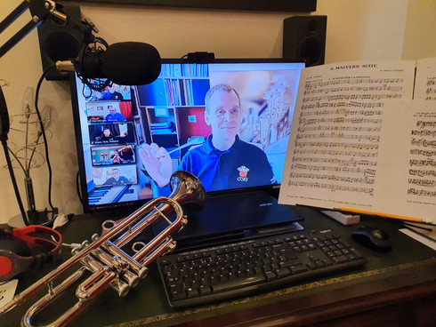 TMB members enjoy a Virtual Brass & Percussion Day with World #1 Brass Brad