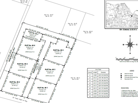 Subdivision Registered! - New Plot Numbers Assigned