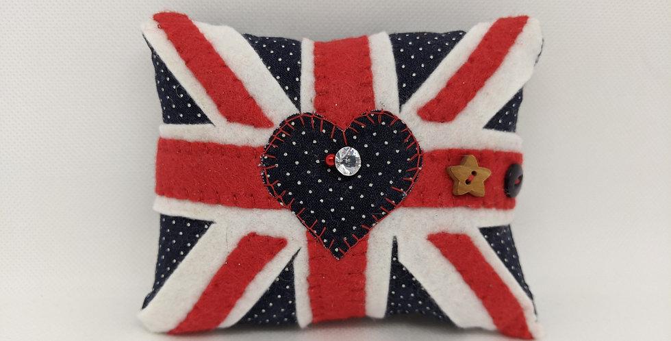 Union Jack Pin Cushion - large