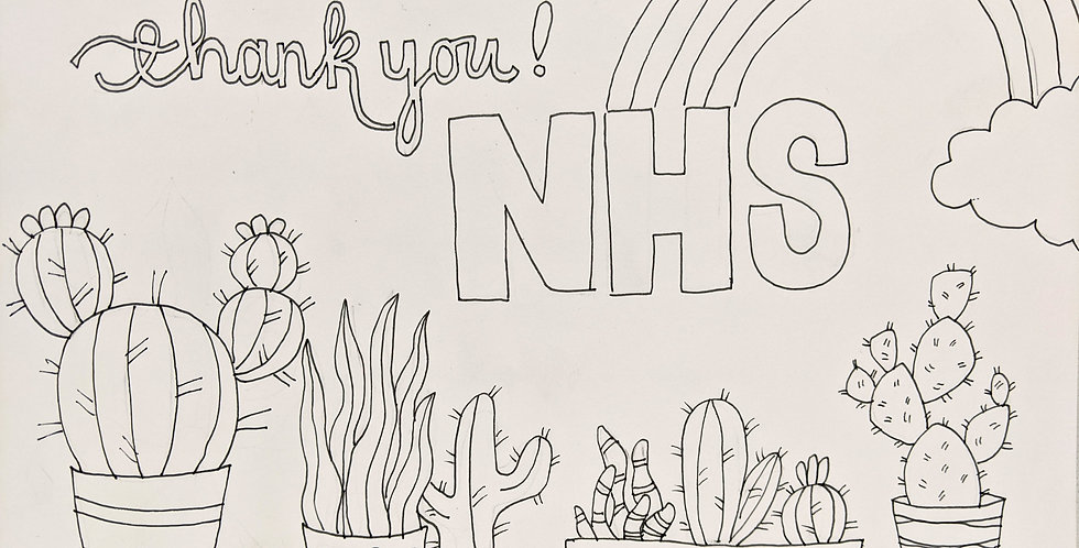 Thank You NHS free printable Colouring Page