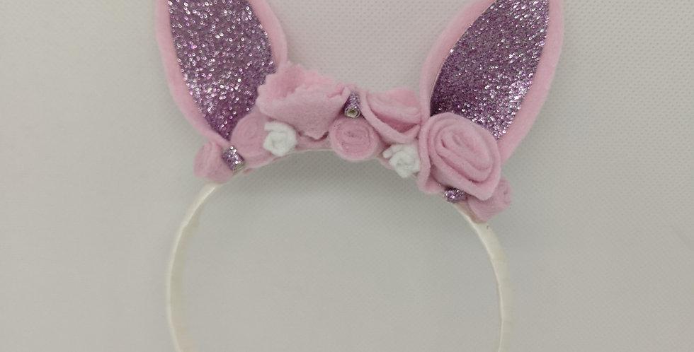 Pink Bunny Headband