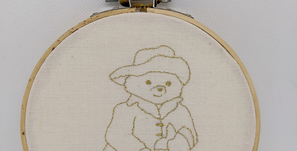 Paddington Bear Embroidery Hoop