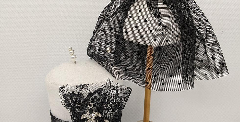 Gothic Mini Top Hat and Mini Mannequin