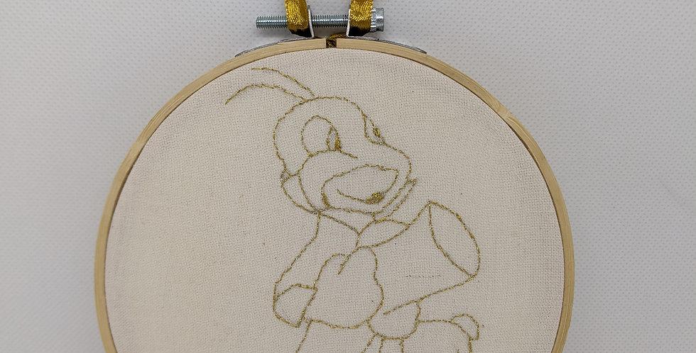 Jiminy Cricket Embroidery Hoop