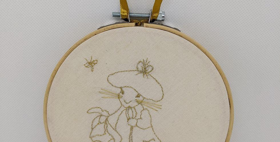 Benjamin Bunny Embroidery Hoop