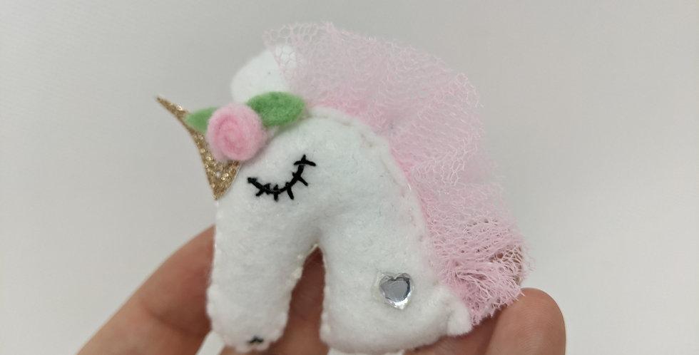 Pink Unicorn Broach