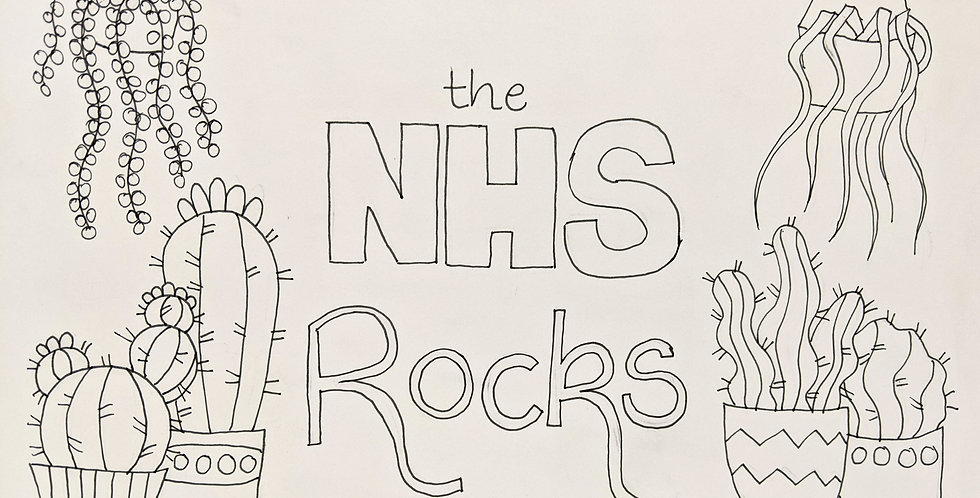 The NHS rocks free printable colouring page