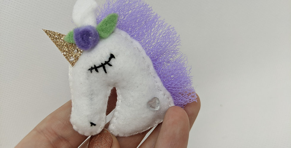 Purple Unicorn Broach