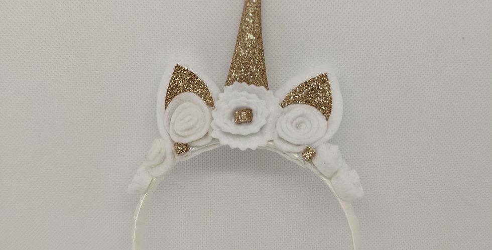 Gold Unicorn Headband