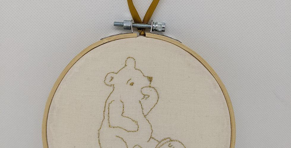 Pooh Bear Embroidery Hoop