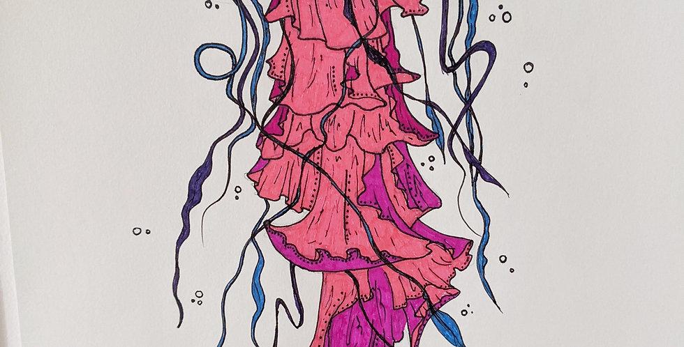 Pink Jellyfish Poster