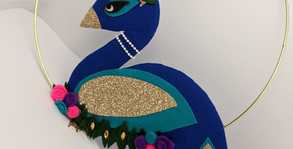 Peacock Princess Wall-hanging