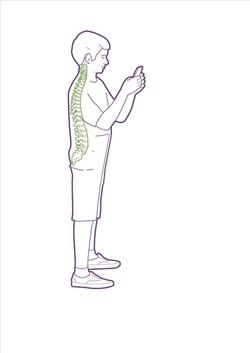 standing good phone use  elbopws in spine in green 18 07 2016.jpg