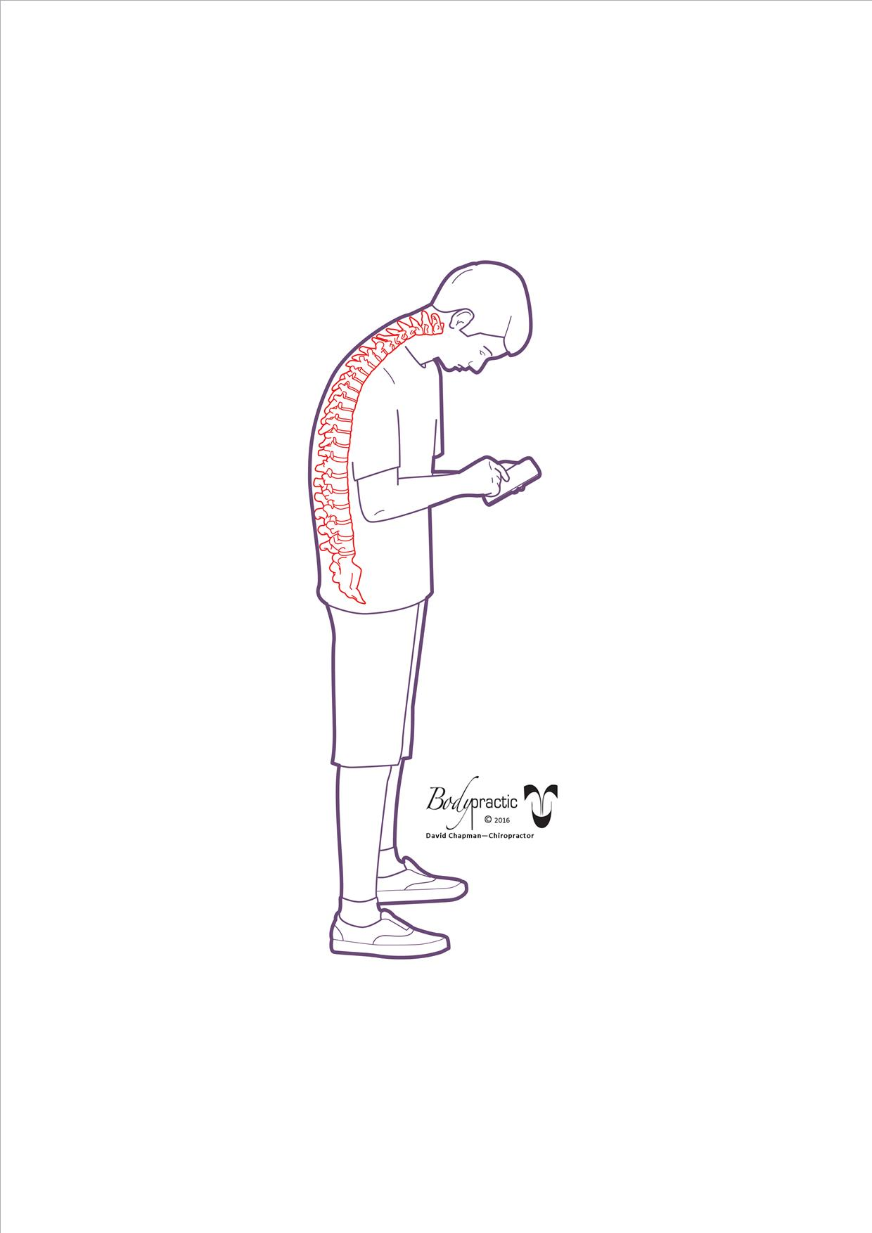 Poor posture whilst using your phone
