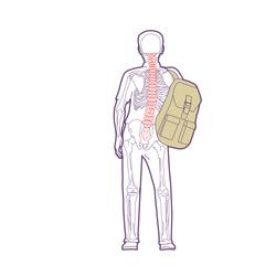 Back pack on one shoulder