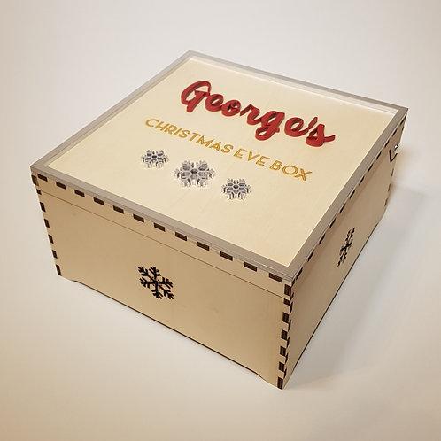 Christmas Eve box (snowflakes design)
